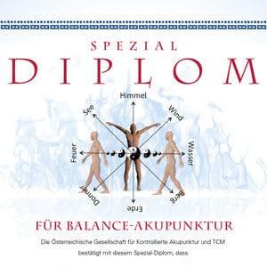 Diplom für Balance Akupunktur